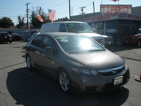 2009 Honda Civic LX-S for sale at AUTO WHOLESALE OUTLET in North Hollywood CA