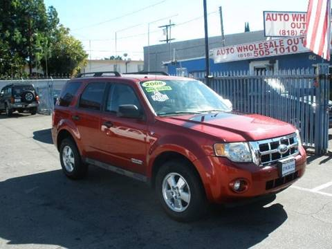 2008 Ford Escape for sale at Auto Wholesale Outlet in North Hollywood CA