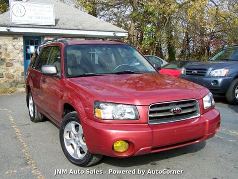 2004 Subaru Forester XS for sale at JNM AUTOMOTIVE SALES in Leesburg VA