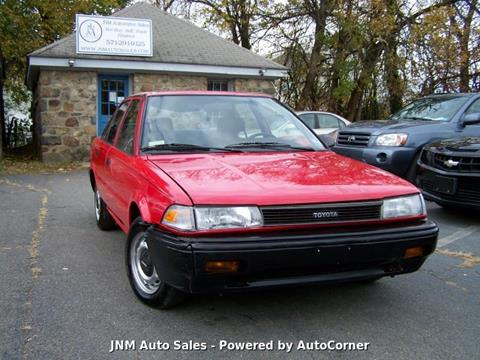 1990 Toyota Corolla for sale at JNM AUTOMOTIVE SALES in Leesburg VA