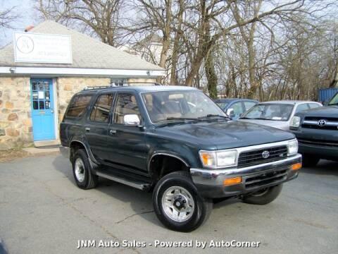 1994 Toyota 4Runner SR5 V6 for sale at JNM AUTOMOTIVE SALES in Leesburg VA