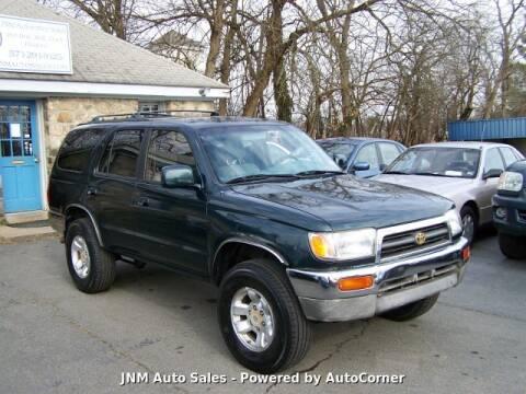 1997 Toyota 4Runner SR5 for sale at JNM AUTOMOTIVE SALES in Leesburg VA
