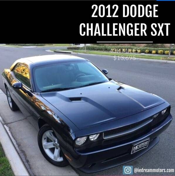 2012 Dodge Challenger for sale at IE Dream Motors in Upland CA