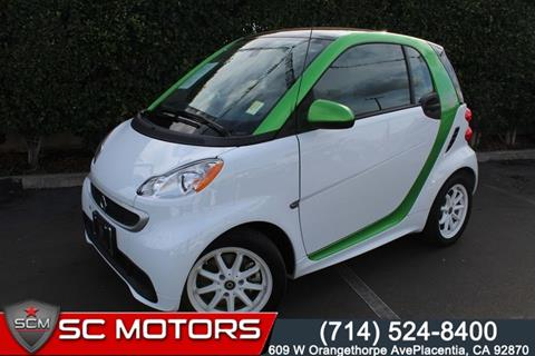 2015 Smart fortwo electric drive for sale in Placentia, CA
