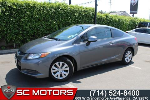 2012 Honda Civic for sale in Placentia, CA