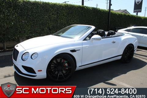 2016 Bentley Continental for sale in Placentia, CA