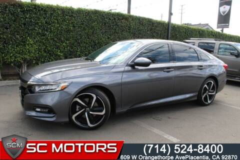 2019 Honda Accord Sport for sale at SC Motors in Placentia CA