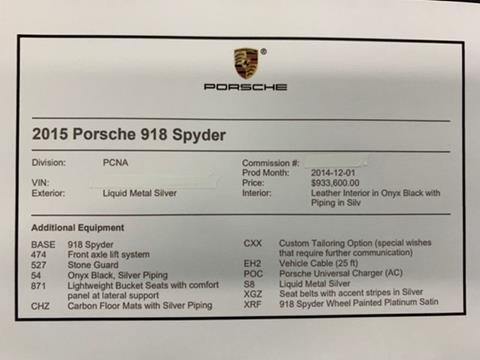 2015 Porsche 918 Spyder For Sale In Upland Ca