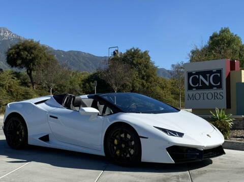 2019 Lamborghini Huracan LP 580-2 Spyder for sale at CNC Motors Inc in Upland CA