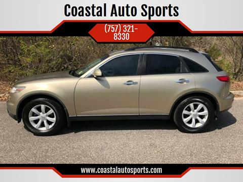 2004 Infiniti FX35 for sale at Coastal Auto Sports in Chesapeake VA