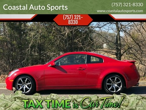 2005 Infiniti G35 for sale at Coastal Auto Sports in Chesapeake VA