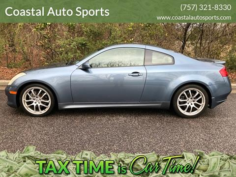 2006 Infiniti G35 for sale at Coastal Auto Sports in Chesapeake VA