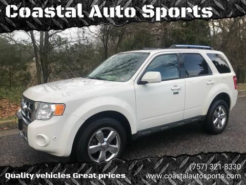 2011 Ford Escape Limited for sale at Coastal Auto Sports in Chesapeake VA
