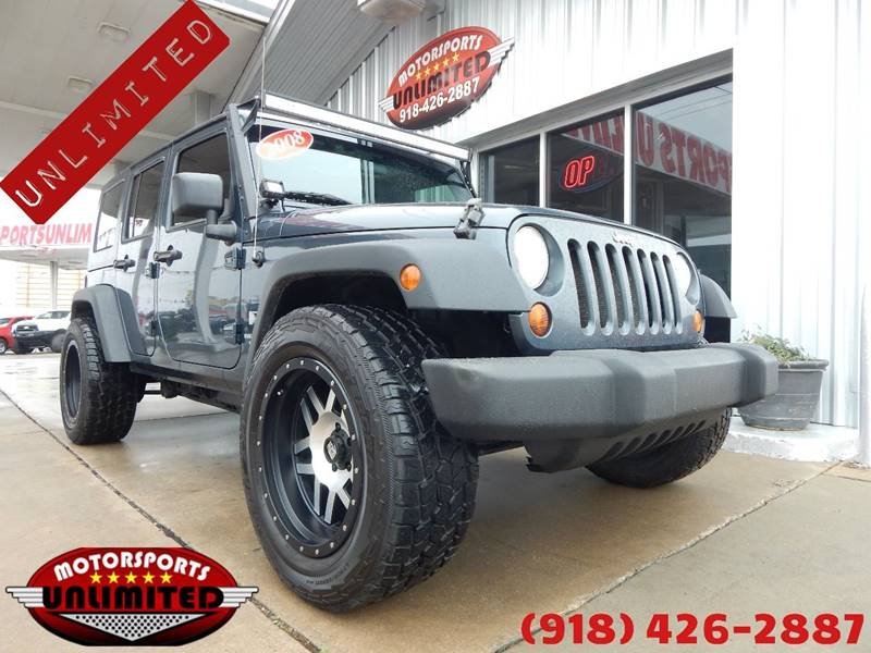 2008 Jeep Wrangler Unlimited For Sale At Motorsports Unlimited In Mcalester  OK