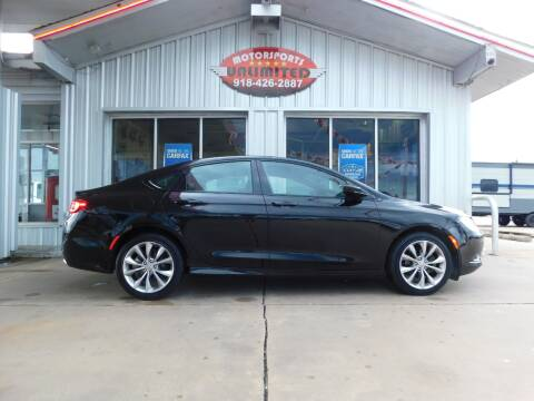 2015 Chrysler 200 for sale at Motorsports Unlimited in McAlester OK