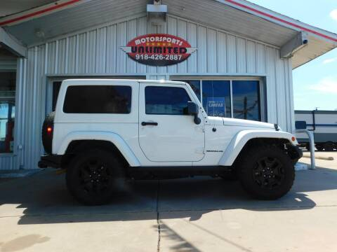 2016 Jeep Wrangler for sale at Motorsports Unlimited in McAlester OK