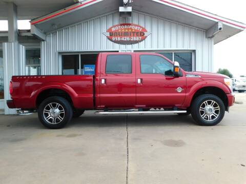 2014 Ford F-250 Super Duty for sale at Motorsports Unlimited in McAlester OK