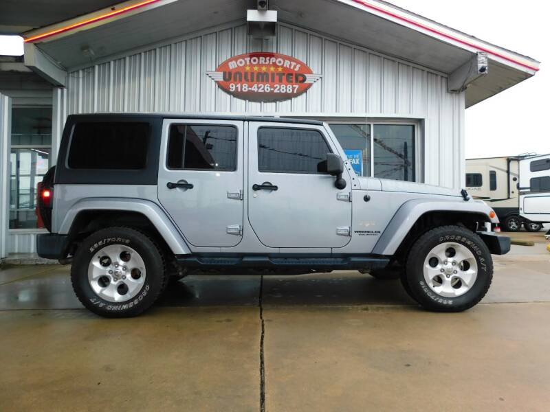 2014 Jeep Wrangler Unlimited for sale at Motorsports Unlimited in McAlester OK