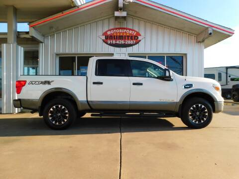 2017 Nissan Titan for sale at Motorsports Unlimited in McAlester OK