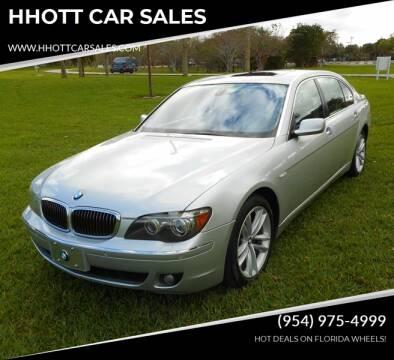 2008 BMW 7 Series for sale at HHOTT CAR SALES in Deerfield Beach FL