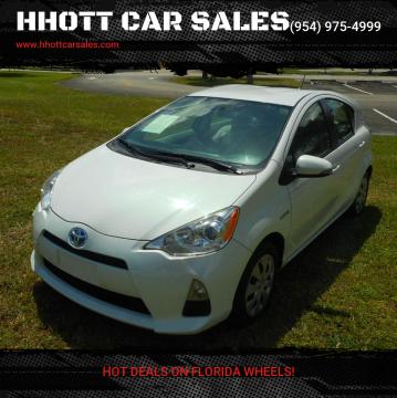 2014 Toyota Prius c for sale at HHOTT CAR SALES in Deerfield Beach FL