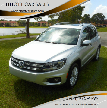 2012 Volkswagen Tiguan for sale at HHOTT CAR SALES in Deerfield Beach FL