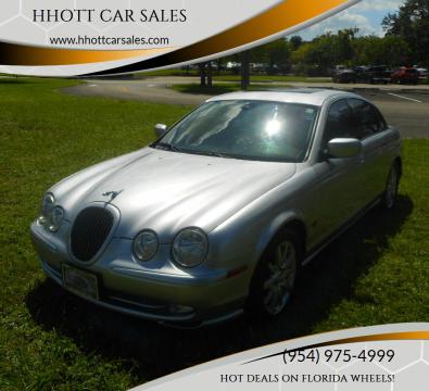 2002 Jaguar S-Type for sale at HHOTT CAR SALES in Deerfield Beach FL