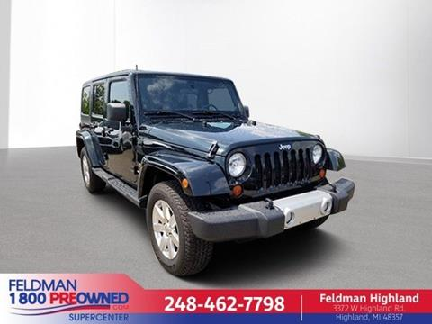 2012 Jeep Wrangler Unlimited for sale in Highland, MI