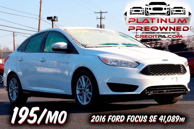2016 ford focus se 4dr sedan in carlisle pa - platinum preowned llc