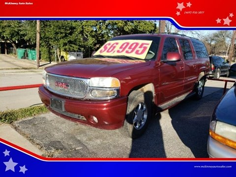 2002 GMC Yukon XL for sale in Mckinney, TX