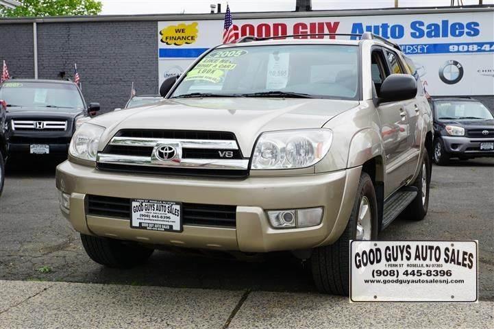2005 Toyota 4runner Sr5 4wd 4dr Suv In Roselle Nj Good Guy Auto Sales