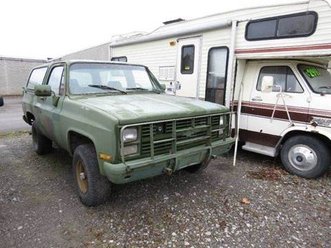 1985 Chevrolet Blazer For Sale  Carsforsalecom