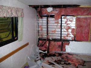 2017 RV Water Damage Professionally Repaired