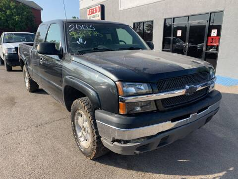2003 Chevrolet Silverado 1500 for sale at Legend Auto Sales in El Paso TX