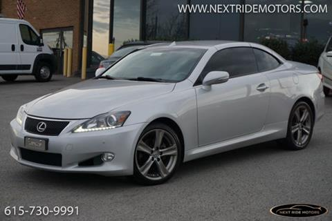 2012 Lexus IS 250C For Sale In Nashville, TN