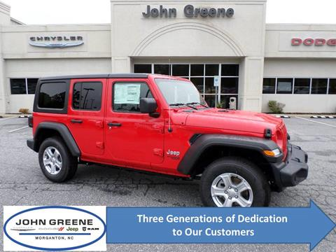 2020 Jeep Wrangler Unlimited for sale at John Greene Chrysler Dodge Jeep Ram in Morganton NC