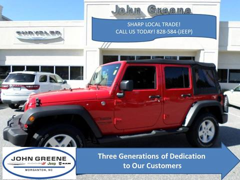 2018 Jeep Wrangler JK Unlimited for sale at John Greene Chrysler Dodge Jeep Ram in Morganton NC