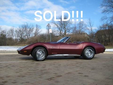 1974 Chevrolet Corvette for sale at Classic Auto Haus in Geneva IL