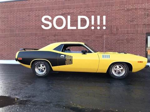 1973 Plymouth Barracuda for sale at Classic Auto Haus in Geneva IL