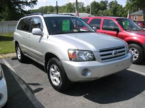 2005 Toyota Highlander for sale in Petersburg, VA