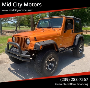 1998 Jeep Wrangler for sale at Mid City Motors Auto Sales in Fort Myers FL