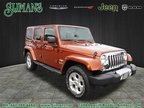 2014 Jeep Wrangler Unlimited for sale in Amherst, OH