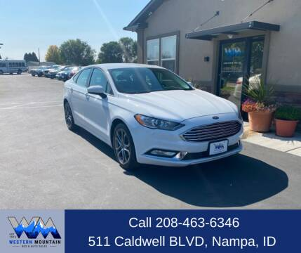 2017 Ford Fusion for sale at Western Mountain Bus & Auto Sales in Nampa ID