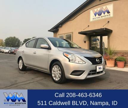 2015 Nissan Versa for sale at Western Mountain Bus & Auto Sales in Nampa ID