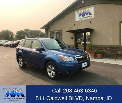 2015 Subaru Forester for sale at Western Mountain Bus & Auto Sales in Nampa ID