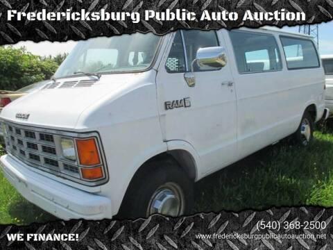 1990 Dodge Ram Wagon for sale at FPAA in Fredericksburg VA