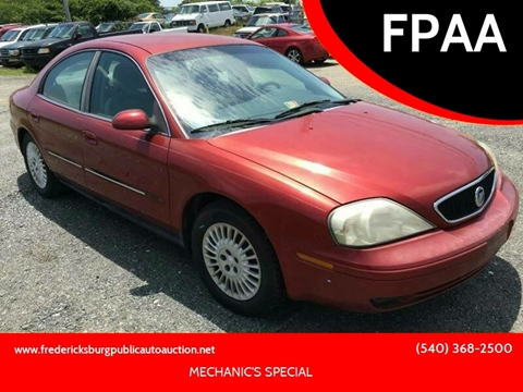 2001 Mercury Sable for sale at FPAA in Fredericksburg VA