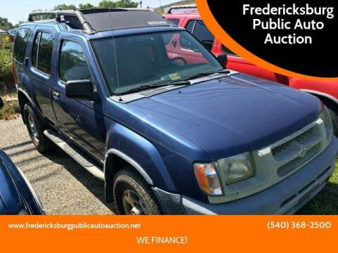 2000 Nissan Xterra XE-V6 for sale at FPAA in Fredericksburg VA