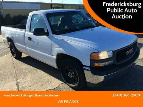 2001 GMC Sierra 1500 SL for sale at FPAA in Fredericksburg VA