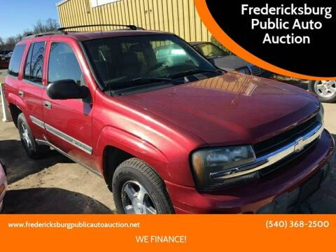 2002 Chevrolet TrailBlazer for sale at FPAA in Fredericksburg VA